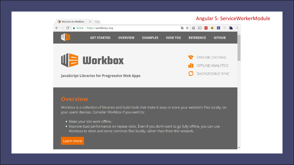 Angular 5: ServiceWorkerModule