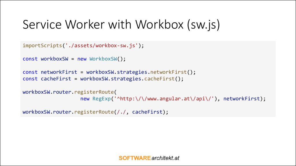 Service Worker with Workbox (sw.js) importScrip...