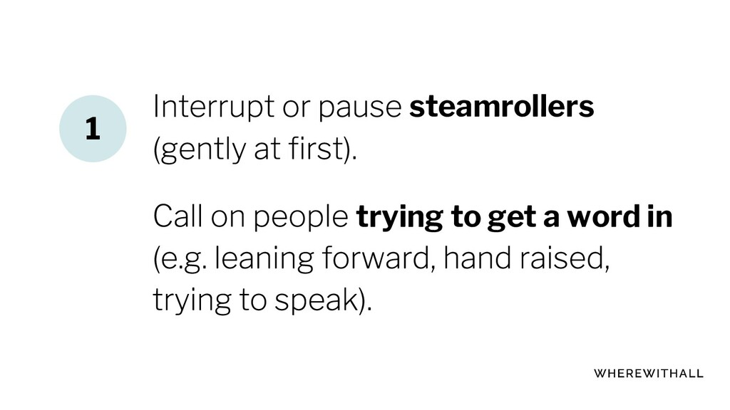 steamrollers trying to get a word in 1