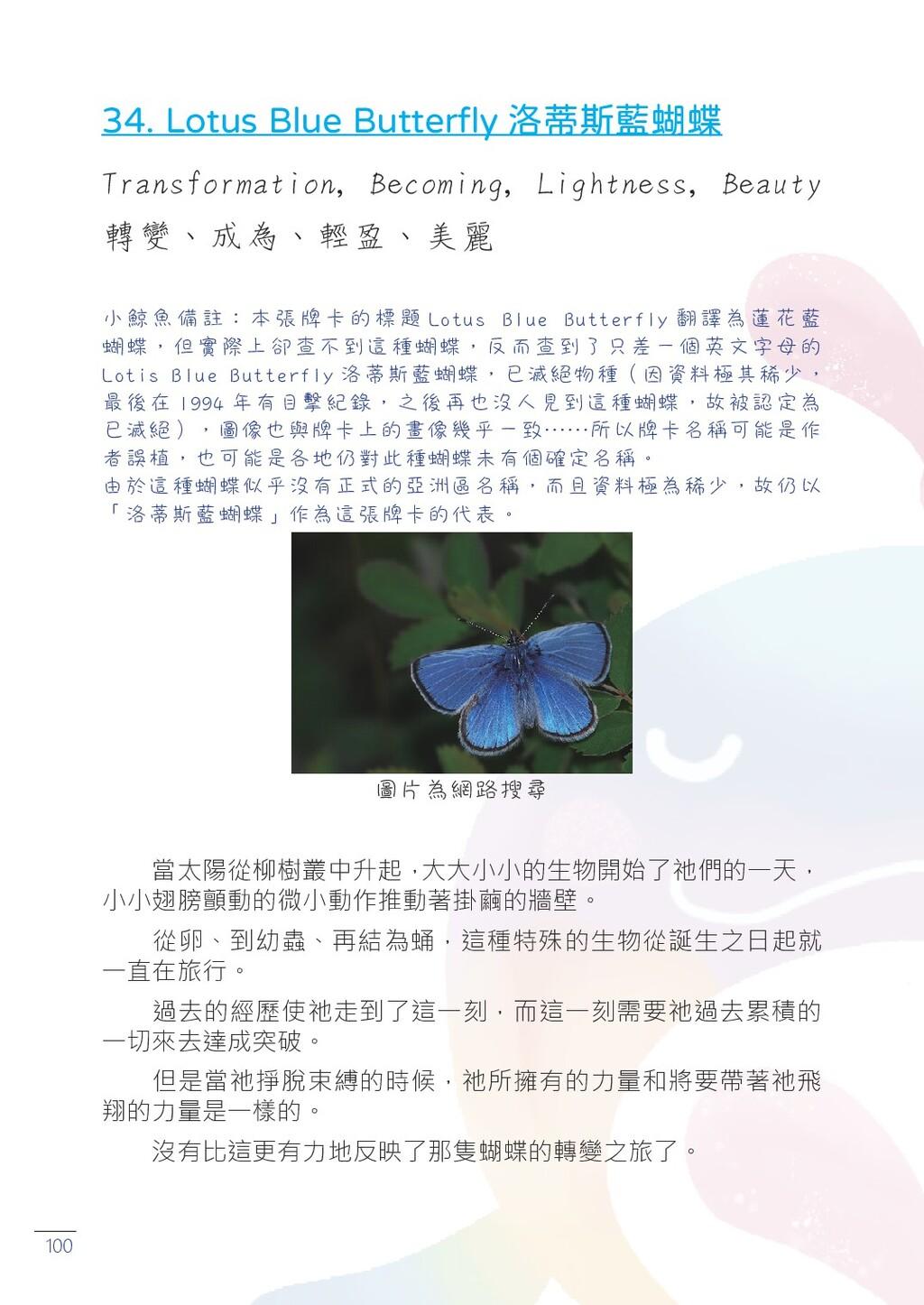 100 34. Lotus Blue Butterfly 洛蒂斯藍蝴蝶 Transformat...