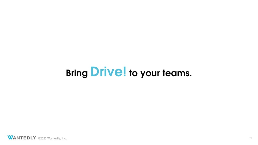 Bring Drive! to your teams.
