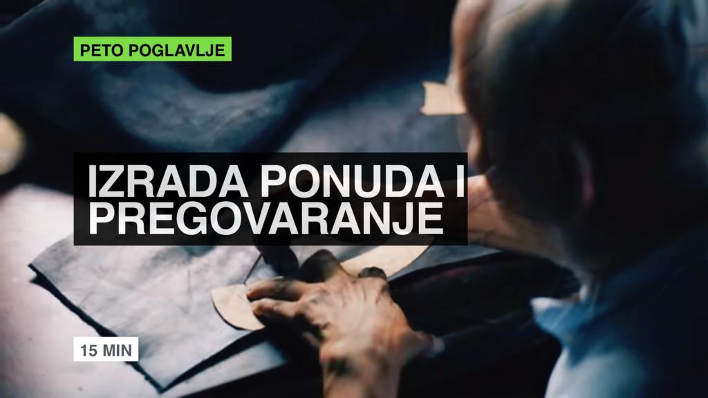 IZRADA PONUDA I PREGOVARANJE PETO POGLAVLJE 15...