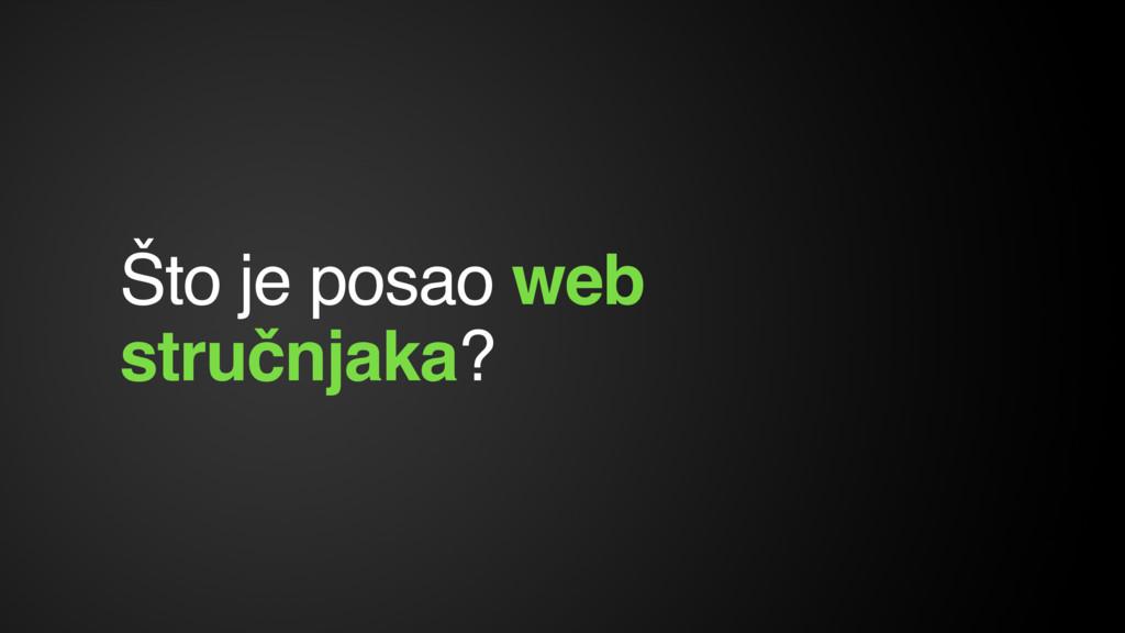 Što je posao web stručnjaka?