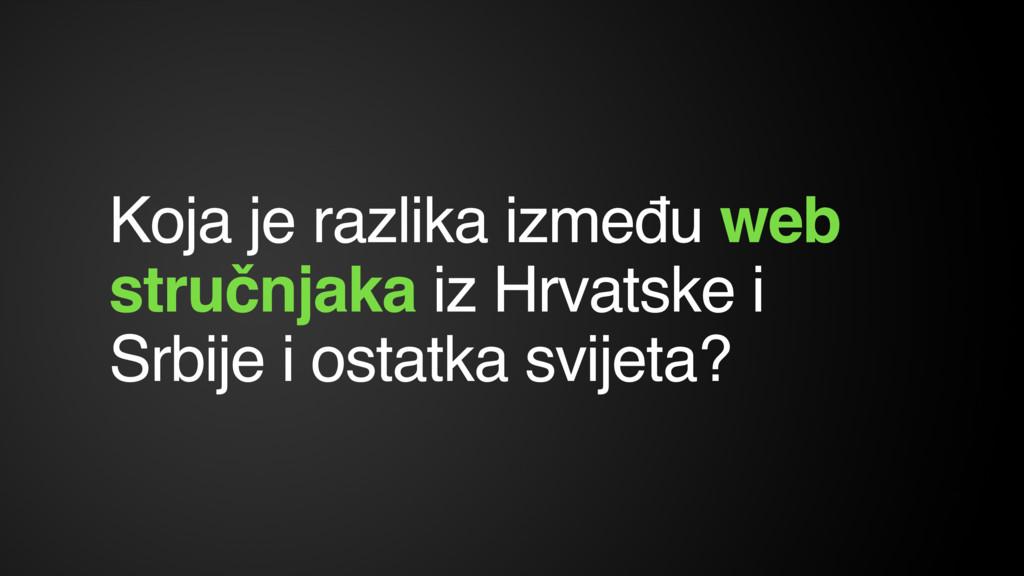 Koja je razlika između web stručnjaka iz Hrvats...