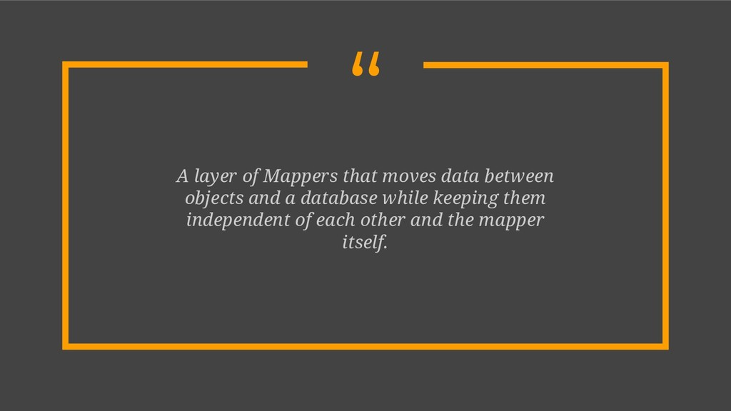 """ A layer of Mappers that moves data between ob..."