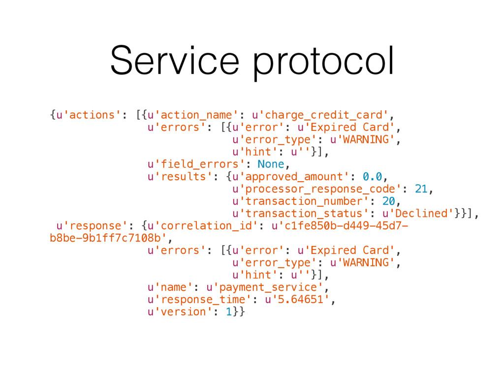 Service protocol {u'actions': [{u'action_name':...