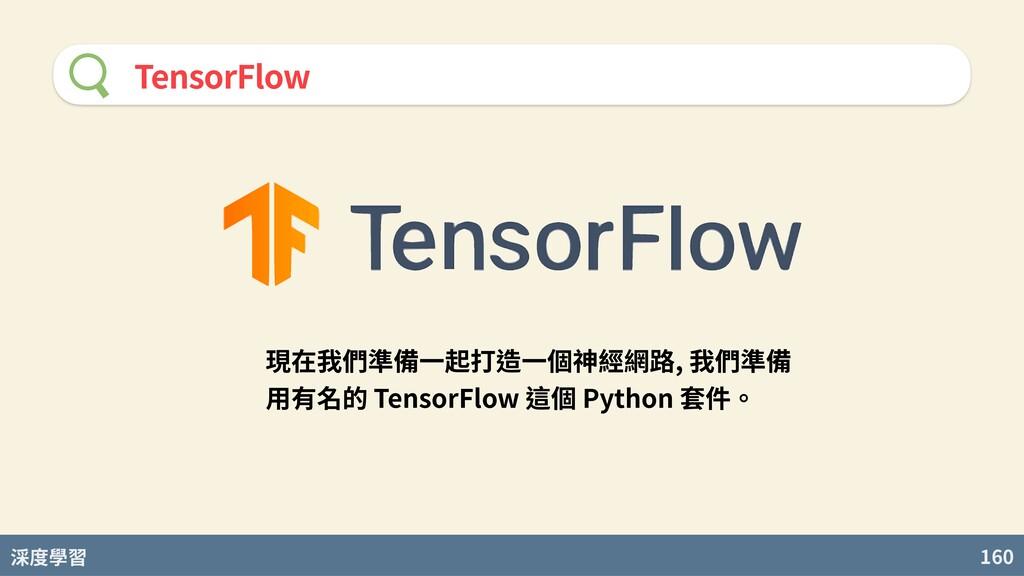 度學習 160 TensorFlow 現在我們準備⼀起打造⼀個神經網路, 我們準備 ⽤有名的 ...