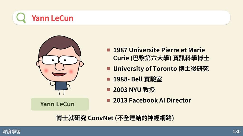 度學習 180 Yann LeCun 1987 Universite Pierre et Ma...