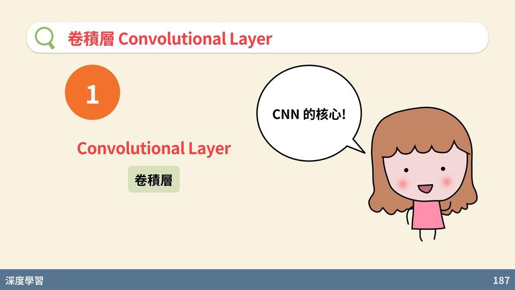 度學習 187 卷積層 Convolutional Layer Convolutional L...