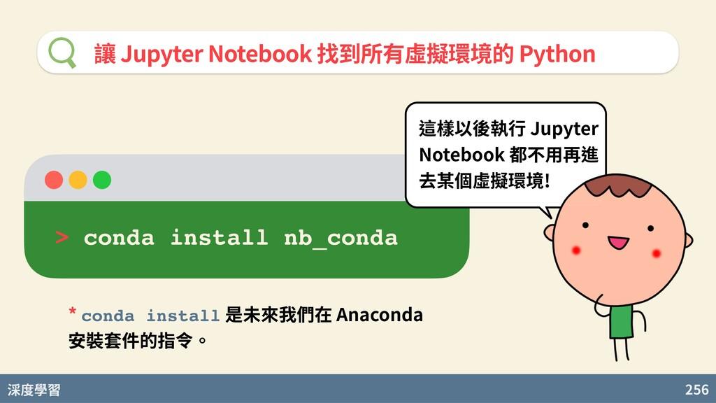 度學習 256 讓 Jupyter Notebook 找到所有虛擬環境的 Python > c...