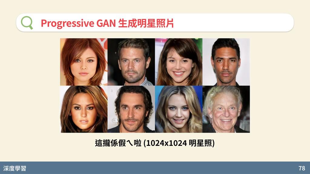 度學習 78 Progressive GAN ⽣成明星照⽚ 這攏係假ㄟ啦 (1024x 明星照)