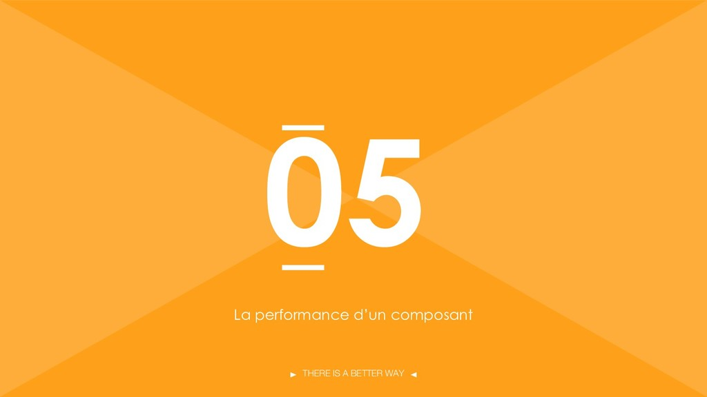 THERE IS A BETTER WAY La performance d'un compo...