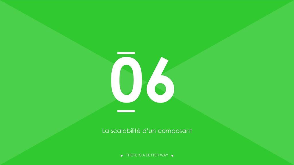 THERE IS A BETTER WAY La scalabilité d'un compo...