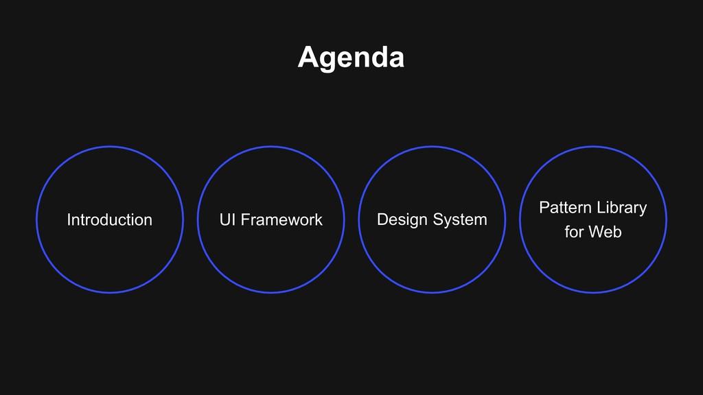 Agenda Introduction UI Framework Design System ...