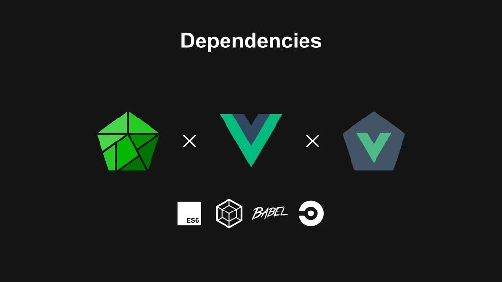 ES6 Dependencies