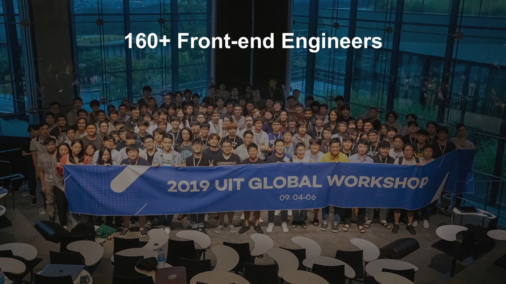 160+ Front-end Engineers