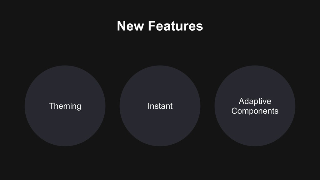 Theming Adaptive Components Instant New Features