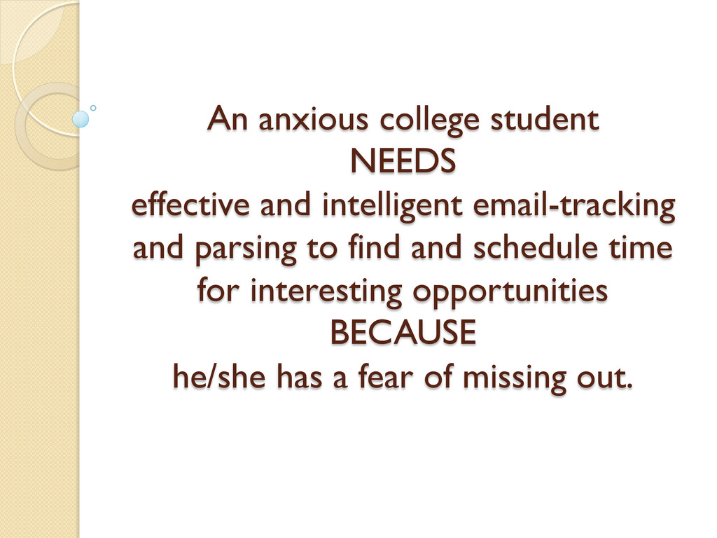 An anxious college student NEEDS effective and ...
