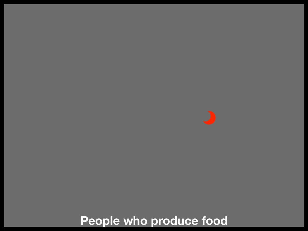 People who produce food