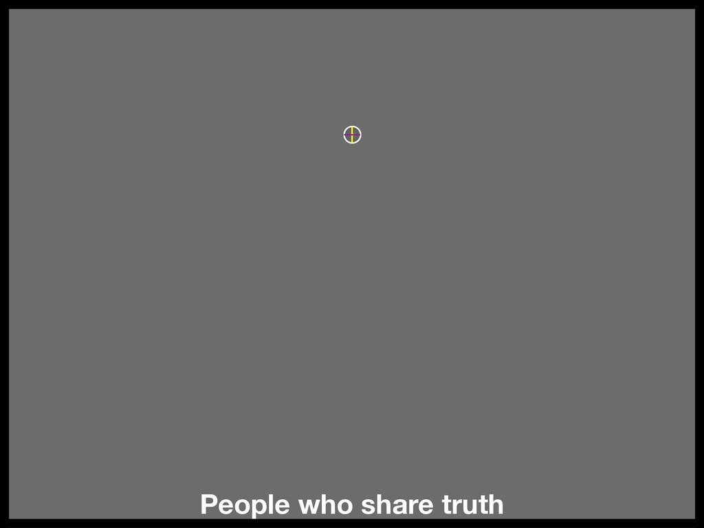 People who share truth