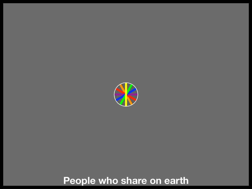 People who share on earth