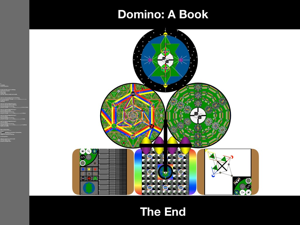 The End Domino: A Book If, as people, our job s...