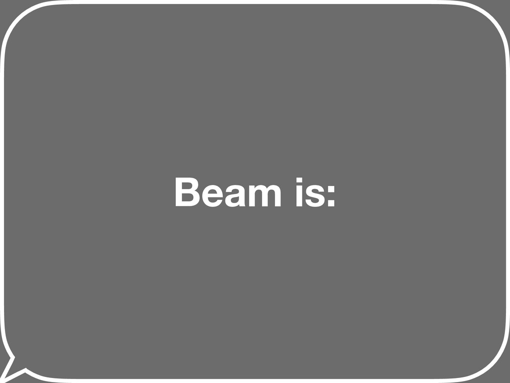 Beam is: