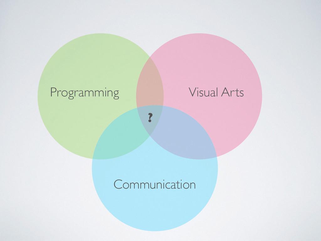 Programming Communication Visual Arts ?