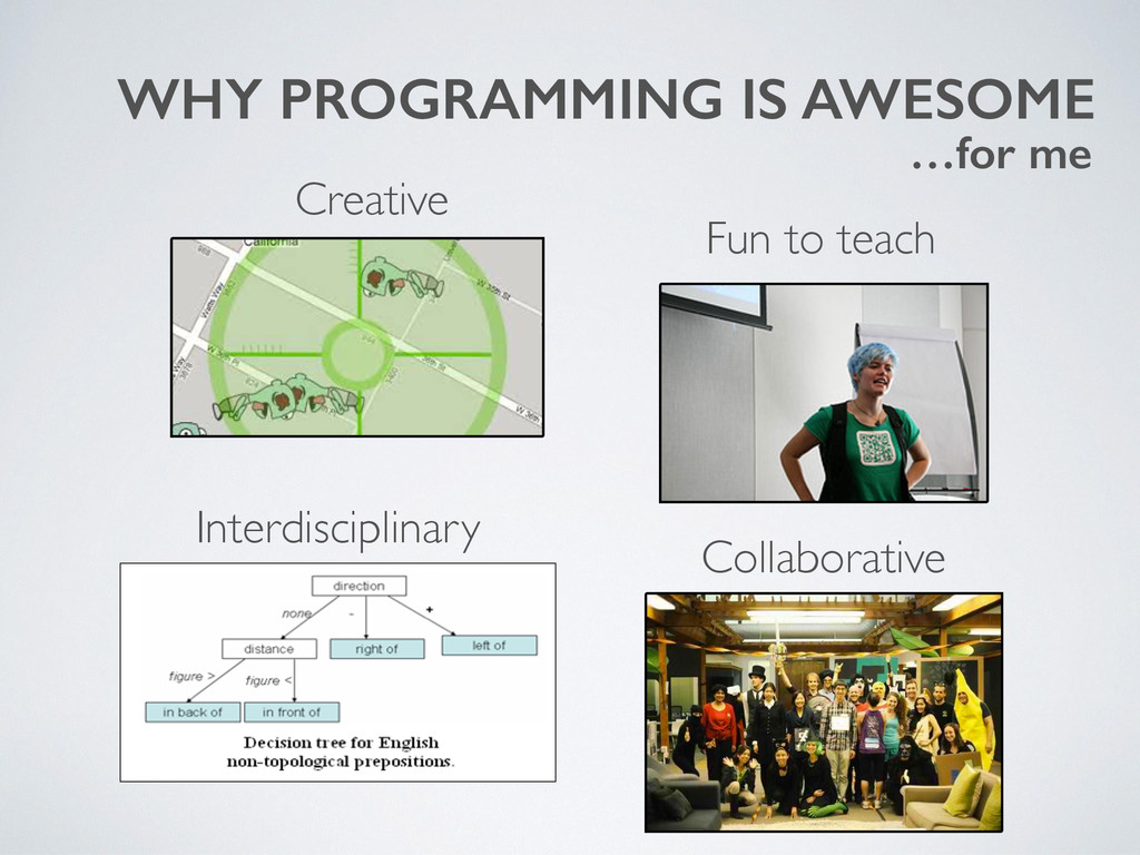 WHY PROGRAMMING IS AWESOME Collaborative Creati...