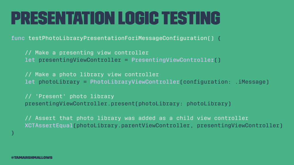 Presentation logic testing func testPhotoLibrar...