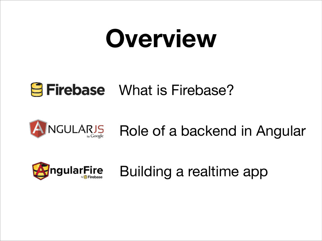 Overview What is Firebase? Role of a backend in...