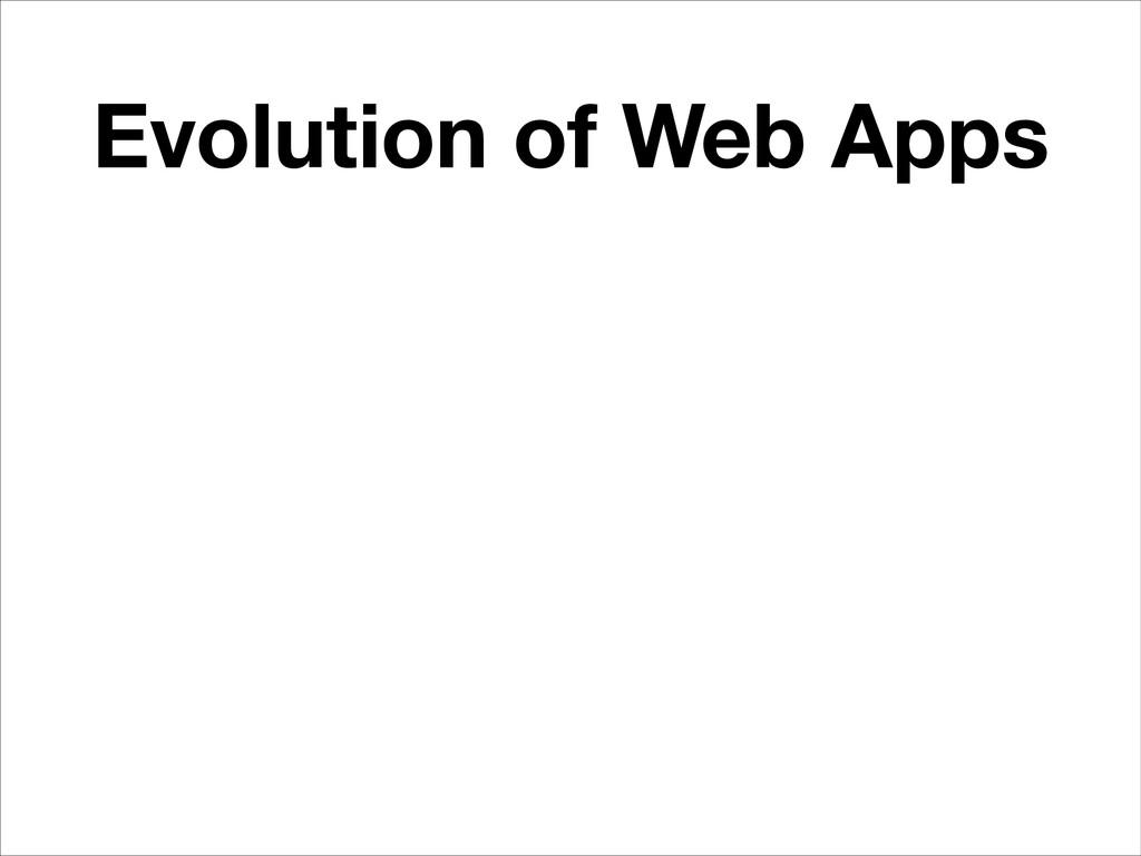 Evolution of Web Apps