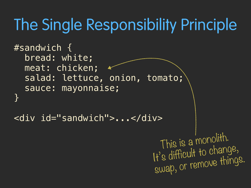 The Single Responsibility Principle #sandwich {...