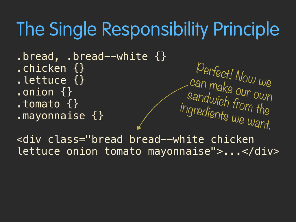 The Single Responsibility Principle .bread, .br...
