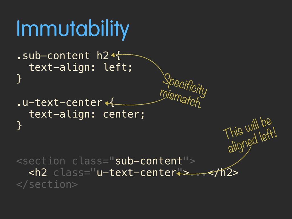 Immutability .sub-content h2 { text-align: left...