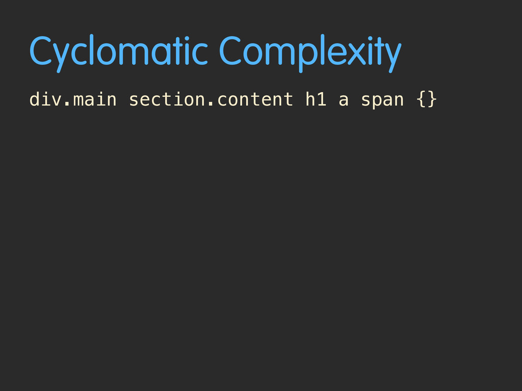 Cyclomatic Complexity div.main section.content ...