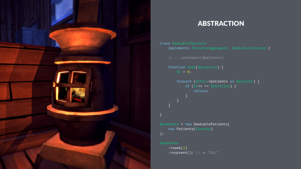 ABSTRACTION class SeekablePatients implements I...