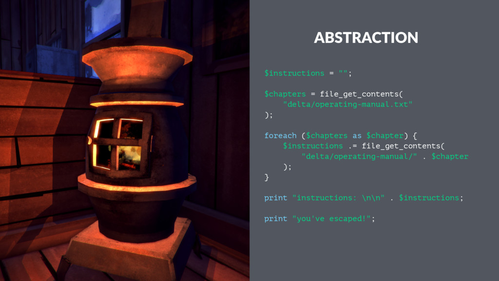 "ABSTRACTION $instructions = """"; $chapters = fil..."