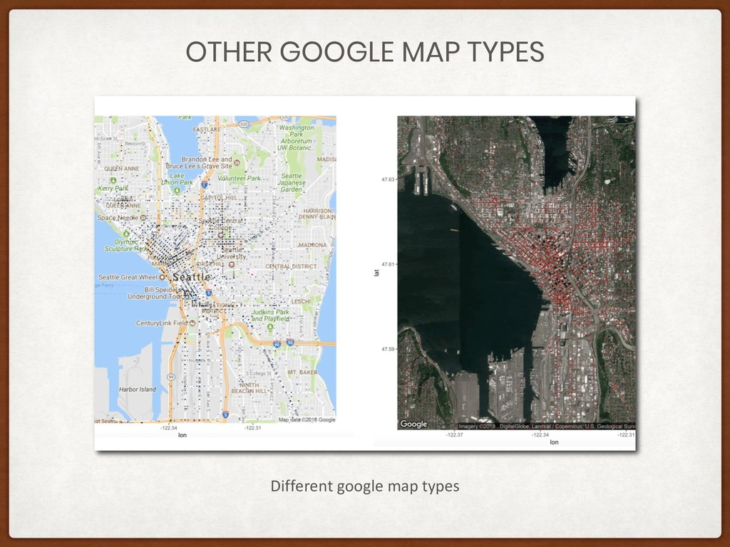 OTHER GOOGLE MAP TYPES Different google map typ...