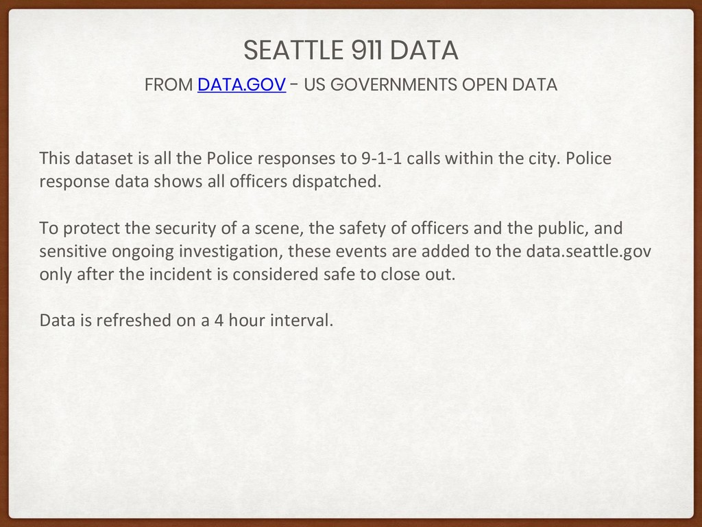 FROM DATA.GOV - US GOVERNMENTS OPEN DATA SEATTL...