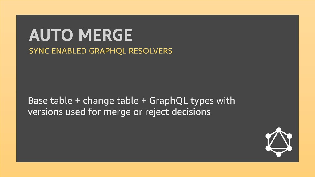 AUTO MERGE SYNC ENABLED GRAPHQL RESOLVERS Base ...