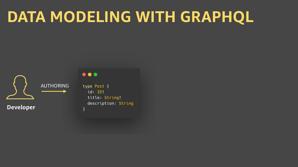 DATA MODELING WITH GRAPHQL Developer AUTHORING