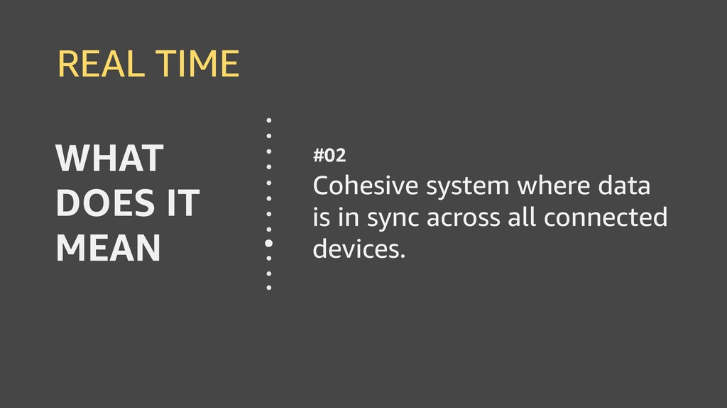 REAL TIME Cohesive system where data is in sync...