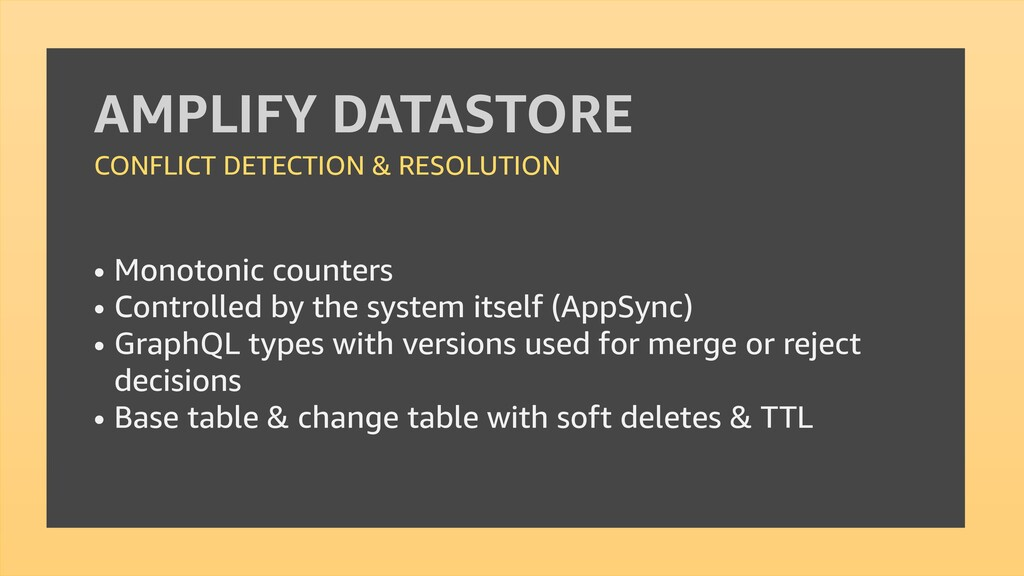 AMPLIFY DATASTORE CONFLICT DETECTION & RESOLUTI...