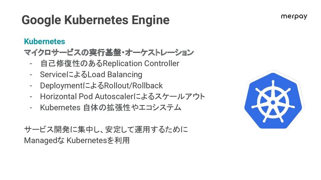 Google Kubernetes Engine Kubernetes マイクロサービスの実行...