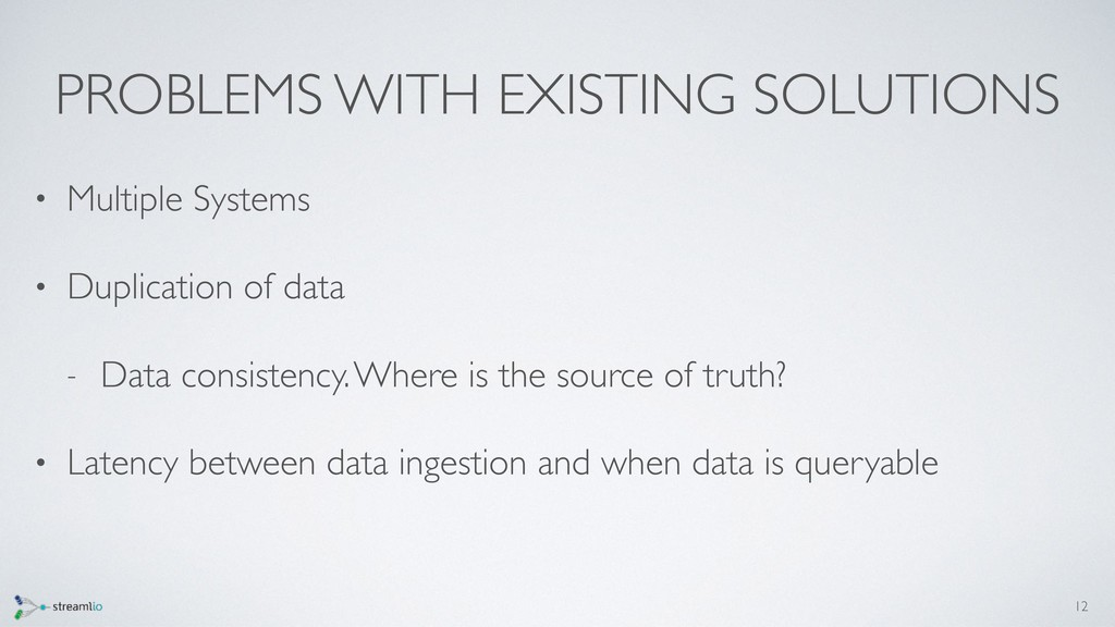 PROBLEMS WITH EXISTING SOLUTIONS • Multiple Sys...