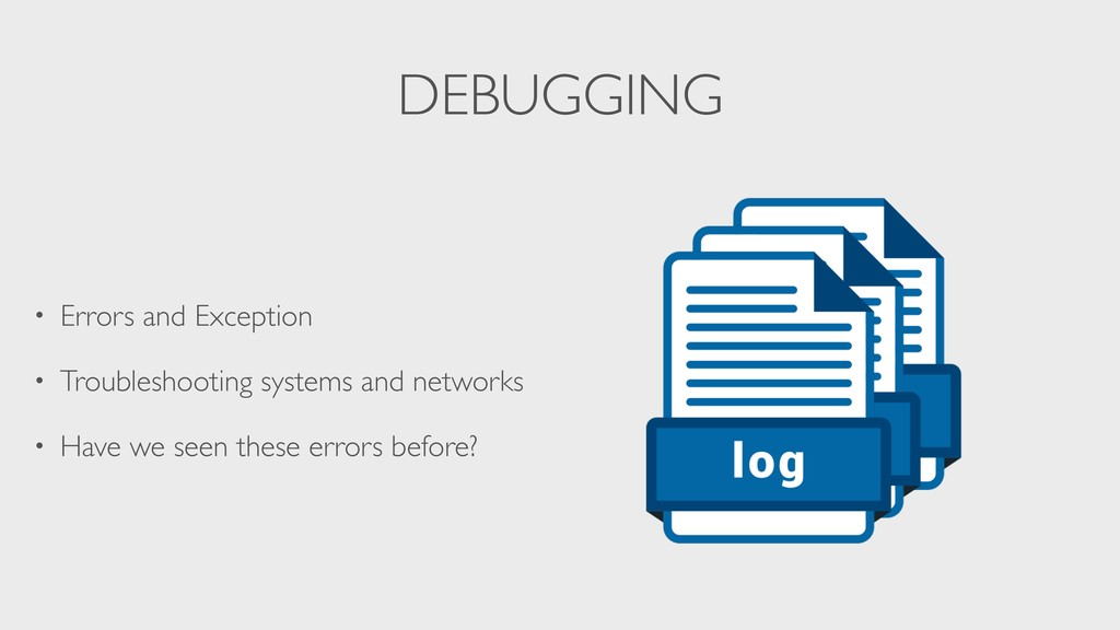 DEBUGGING • Errors and Exception • Troubleshoot...