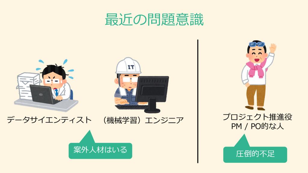 (機械学習)エンジニア データサイエンティスト プロジェクト推進役 PM / PO的な⼈人...