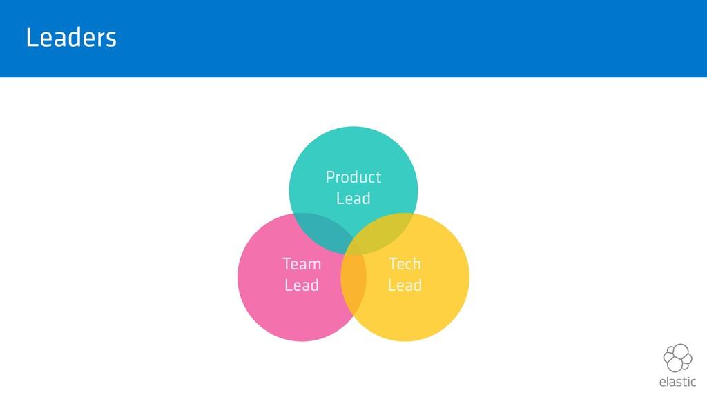 Leaders Team Lead Product Lead Tech Lead