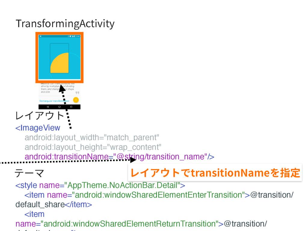 """5SBOTGPSNJOH""""DUJWJUZ <ImageView android:layout_..."""